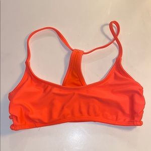 neon coral swimsuit top from target, xs size, worn